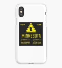 Minnesota Extreme Warning iPhone Case/Skin