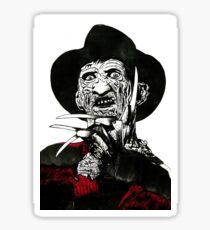 Freddy Kruger T shirt Design Sticker