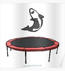Trampoline Shark Blank Poster