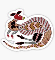 Aboriginal Art - The Kangaroo Sticker