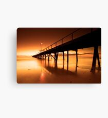 Golden Sands - Semaphore Jetty Canvas Print