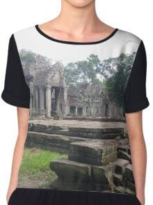 Cambodian Temple Chiffon Top