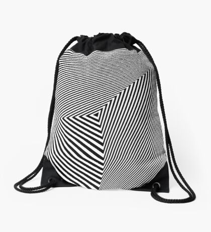 Rotated & Scaled Triangles 007 Drawstring Bag
