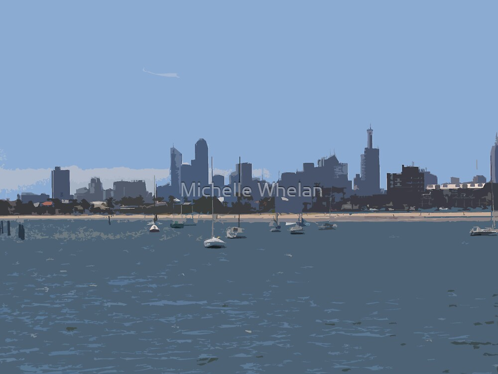 view of melbourne by Michelle Whelan