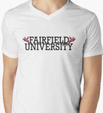 Fairfield University Stags Men's V-Neck T-Shirt