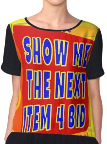 TV Game Show - TPIR (The Price Is...)Next Item 4 Bid Chiffon Top