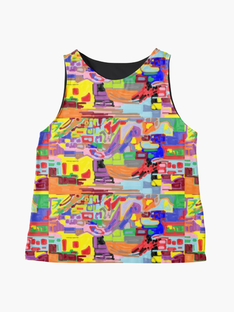 Alternate view of Art of my Cubism Sleeveless Top