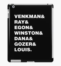 GHOSTBUSTERS& WHITE iPad Case/Skin