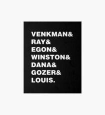 GHOSTBUSTERS& WHITE Art Board