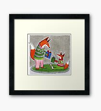 Christmas for the Foxes Framed Print