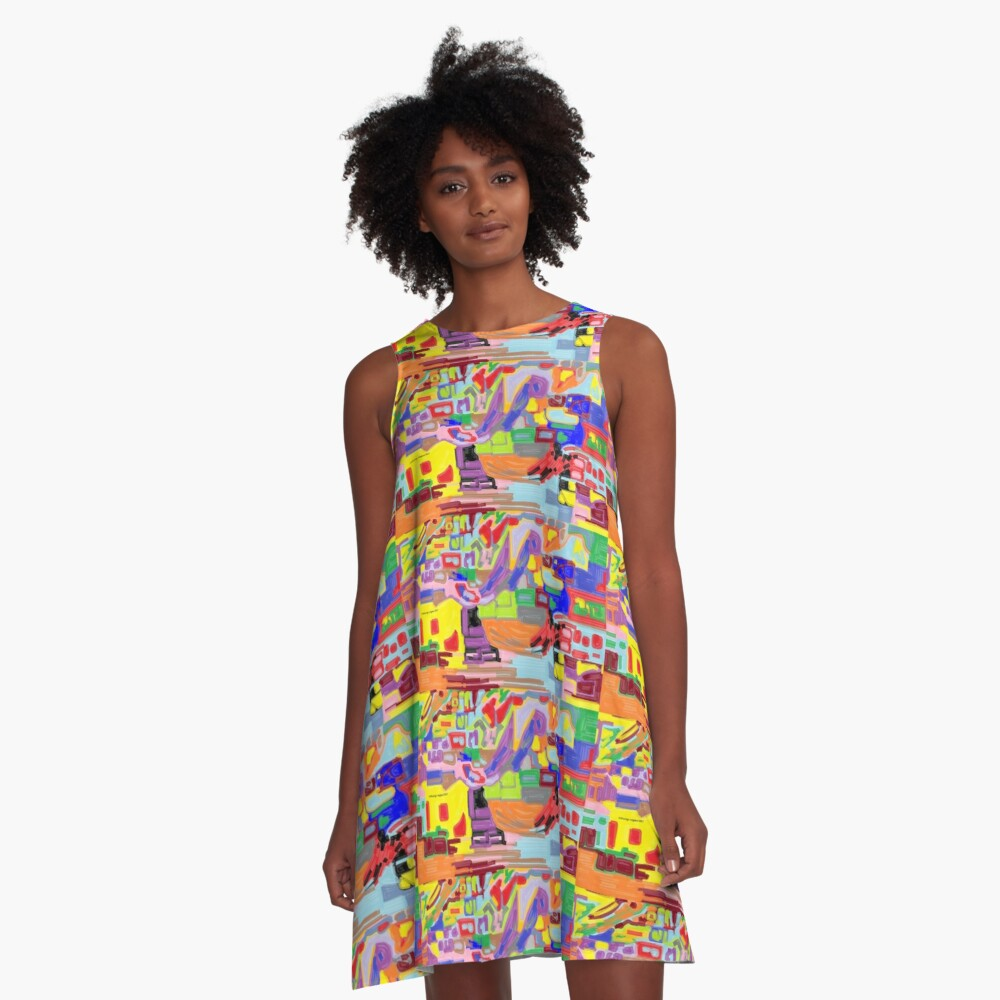 Art of my Cubism A-Line Dress