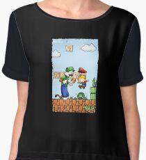 Super Calvin & Hobbes Bros. Women's Chiffon Top