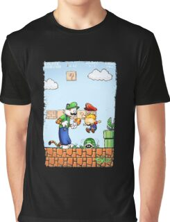 Super Calvin & Hobbes Bros. Graphic T-Shirt