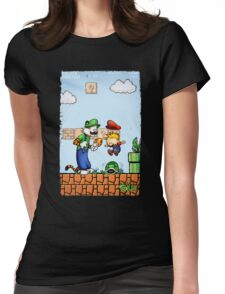 Super Calvin & Hobbes Bros. Womens Fitted T-Shirt