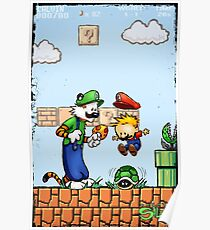 Super Calvin & Hobbes Bros. Poster