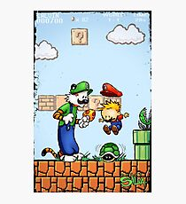 Super Calvin & Hobbes Bros. Photographic Print