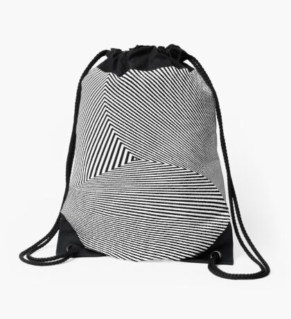 Rotated & Scaled Triangles 008 Drawstring Bag