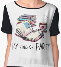 Introvert's Party Women's Chiffon Top