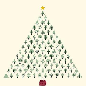 Weihnachtsbaum (helle Version) von littleclyde