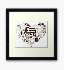 Egypt Heart Framed Print