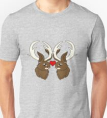 Jackalope love is real love Unisex T-Shirt