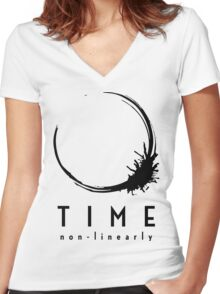 Arrival Movie Heptapod Language Women's Fitted V-Neck T-Shirt