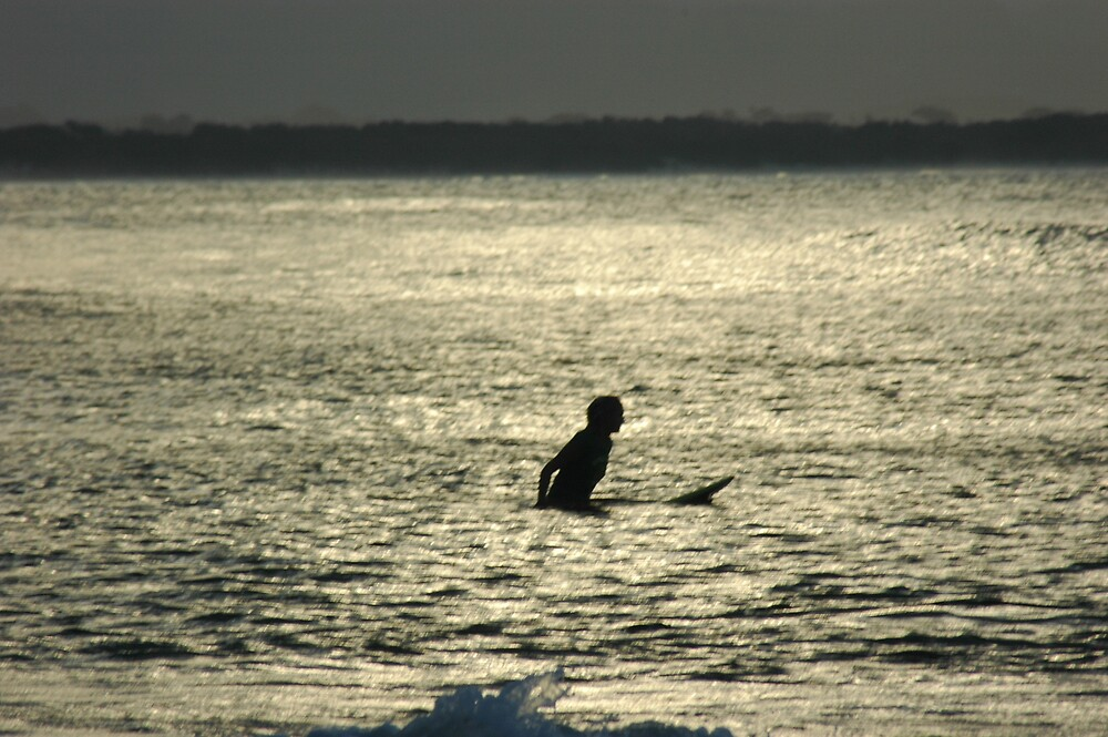 LONE SURFER by DUNCAN DAVIE
