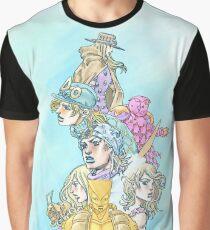 jojo SBR Pillar of Heroes Graphic T-Shirt