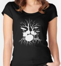 """""""Live the Beat to the Tempo of Creation"""" ~ drum art , version1 Women's Fitted Scoop T-Shirt"""
