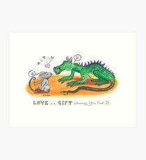 Love is a Gift Art Print