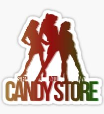Step Into My Candy Store Color Sticker