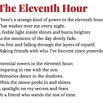 The Eleventh Hour by Emilyromrell