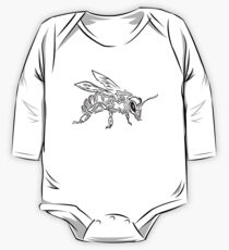 """Bee Spirit"" ver.1 - Surreal abstract tribal bee totem animal One Piece - Long Sleeve"