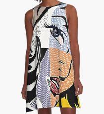 Lichtensteins Mädchen A-Linien Kleid