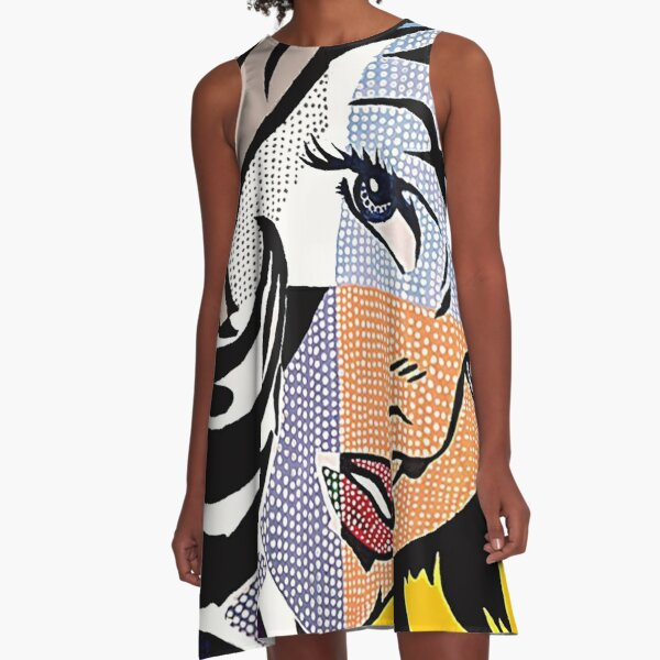 Lichtenstein's Girl A-Line Dress