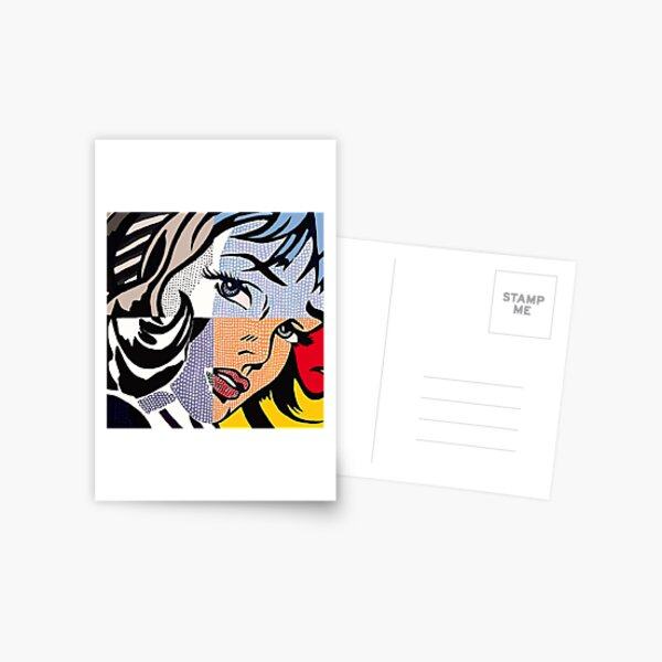 Lichtenstein's Girl Postcard