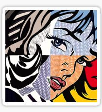 Lichtenstein's Girl Sticker