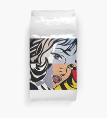Lichtenstein's Girl Duvet Cover