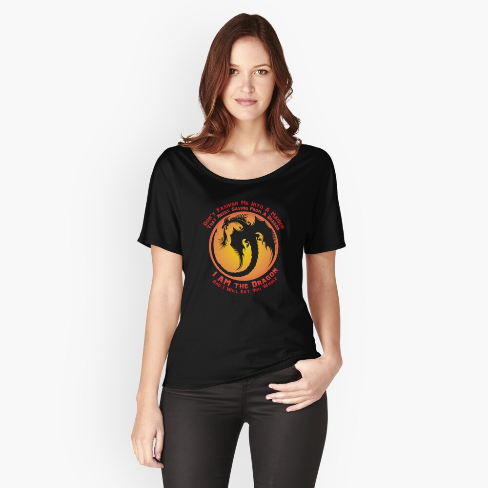I AM the Dragon (alternative color) Women's Relaxed Fit T-Shirt Front