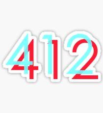 3D 412 Sticker
