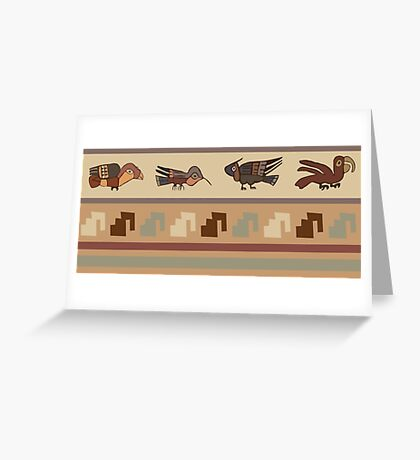 Nazca Birds Greeting Card