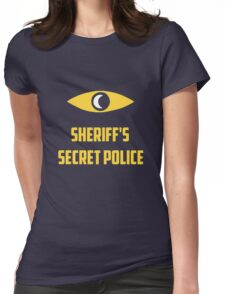 Nightvale secret police Womens Fitted T-Shirt