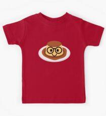 Pudding Emoji Nerd Noob Glasses Kids Tee