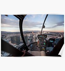 Helicopter flight over Las Vegas, Nevada Poster