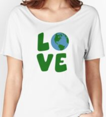 Love the Mother Earth Planet Women's Relaxed Fit T-Shirt
