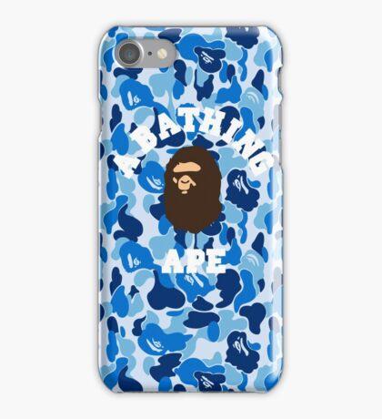 a bape blue iPhone Case/Skin
