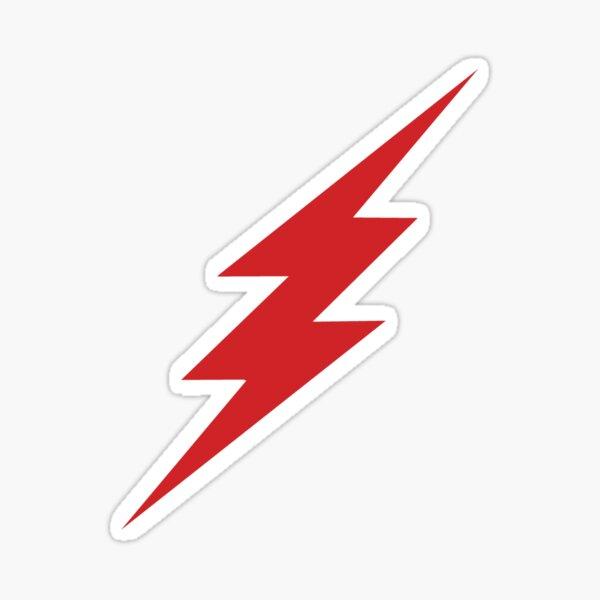 red lightning Sticker
