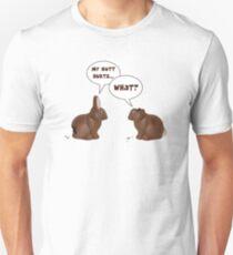 Schokolade Osterhase Kaninchen Hintern tut weh Unisex T-Shirt