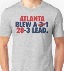 Atlanta Blew A (3-1) 28-3 Lead. (Red/Navy) Unisex T-Shirt