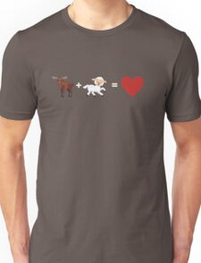 Moose and Lamb equals Love  Unisex T-Shirt
